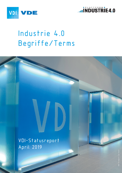Cover Statusreport Industrie 4.0-Begriffe/Terms 2019